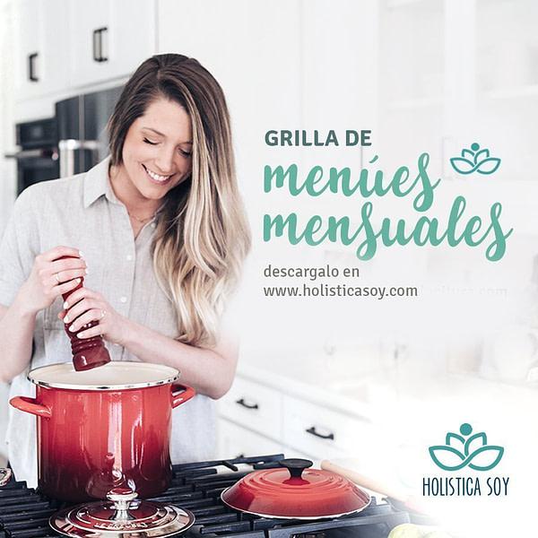 Holística Soy - grilla de menues 1